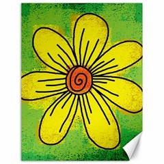 Flower Cartoon Painting Painted Canvas 18  X 24