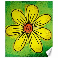 Flower Cartoon Painting Painted Canvas 20  X 24