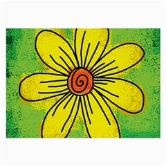 Flower Cartoon Painting Painted Large Glasses Cloth (2 Side)