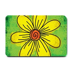 Flower Cartoon Painting Painted Small Doormat