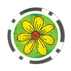 Flower Cartoon Painting Painted Poker Chip Card Guard