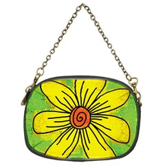 Flower Cartoon Painting Painted Chain Purses (two Sides)