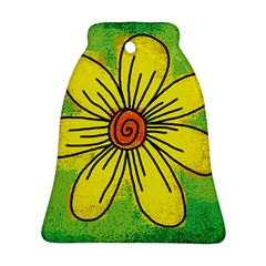 Flower Cartoon Painting Painted Bell Ornament (two Sides)