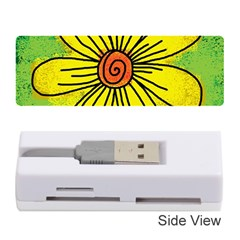 Flower Cartoon Painting Painted Memory Card Reader (stick)