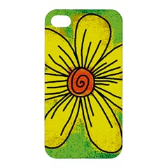 Flower Cartoon Painting Painted Apple Iphone 4/4s Hardshell Case