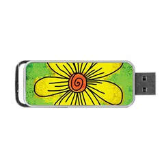 Flower Cartoon Painting Painted Portable Usb Flash (one Side)