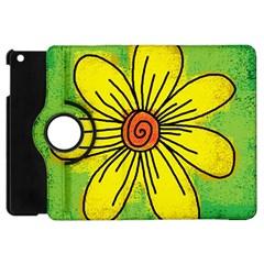 Flower Cartoon Painting Painted Apple Ipad Mini Flip 360 Case
