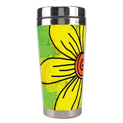 Flower Cartoon Painting Painted Stainless Steel Travel Tumblers
