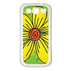 Flower Cartoon Painting Painted Samsung Galaxy S3 Back Case (white)