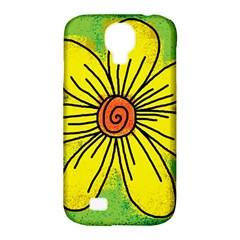 Flower Cartoon Painting Painted Samsung Galaxy S4 Classic Hardshell Case (pc+silicone)