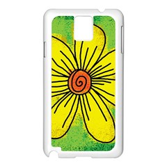 Flower Cartoon Painting Painted Samsung Galaxy Note 3 N9005 Case (white)