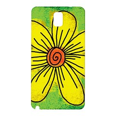 Flower Cartoon Painting Painted Samsung Galaxy Note 3 N9005 Hardshell Back Case