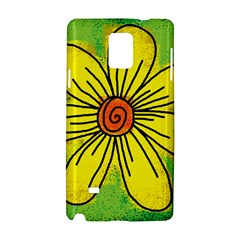 Flower Cartoon Painting Painted Samsung Galaxy Note 4 Hardshell Case