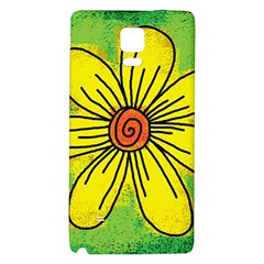 Flower Cartoon Painting Painted Galaxy Note 4 Back Case