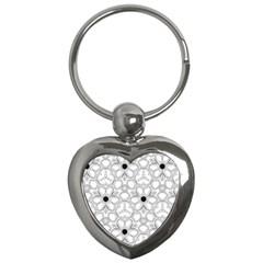 Pattern Zentangle Handdrawn Design Key Chains (heart)