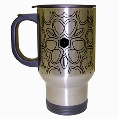 Pattern Zentangle Handdrawn Design Travel Mug (silver Gray)