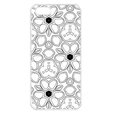 Pattern Zentangle Handdrawn Design Apple Iphone 5 Seamless Case (white)
