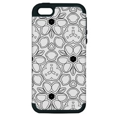 Pattern Zentangle Handdrawn Design Apple Iphone 5 Hardshell Case (pc+silicone)