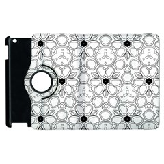 Pattern Zentangle Handdrawn Design Apple Ipad 2 Flip 360 Case