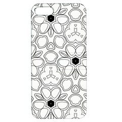 Pattern Zentangle Handdrawn Design Apple Iphone 5 Hardshell Case With Stand
