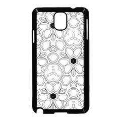 Pattern Zentangle Handdrawn Design Samsung Galaxy Note 3 Neo Hardshell Case (black)
