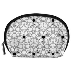 Pattern Zentangle Handdrawn Design Accessory Pouches (large)