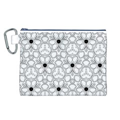 Pattern Zentangle Handdrawn Design Canvas Cosmetic Bag (l)