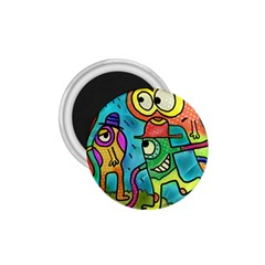 Painting Painted Ink Cartoon 1 75  Magnets