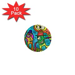 Painting Painted Ink Cartoon 1  Mini Buttons (10 Pack)