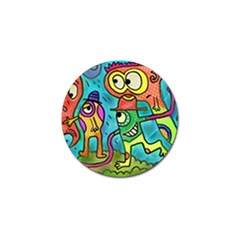 Painting Painted Ink Cartoon Golf Ball Marker (4 Pack)