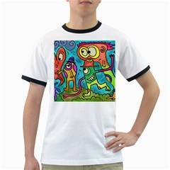 Painting Painted Ink Cartoon Ringer T Shirts