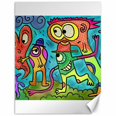 Painting Painted Ink Cartoon Canvas 12  X 16