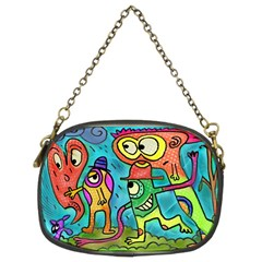 Painting Painted Ink Cartoon Chain Purses (two Sides)
