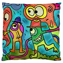 Painting Painted Ink Cartoon Large Cushion Case (one Side)