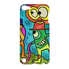 Painting Painted Ink Cartoon Apple Ipod Touch 5 Hardshell Case