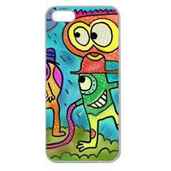 Painting Painted Ink Cartoon Apple Seamless Iphone 5 Case (clear)