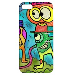 Painting Painted Ink Cartoon Apple Iphone 5 Hardshell Case With Stand