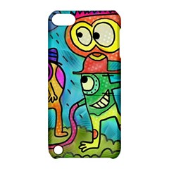 Painting Painted Ink Cartoon Apple Ipod Touch 5 Hardshell Case With Stand