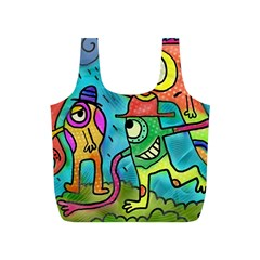Painting Painted Ink Cartoon Full Print Recycle Bags (s)