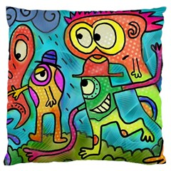 Painting Painted Ink Cartoon Standard Flano Cushion Case (two Sides)