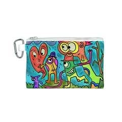 Painting Painted Ink Cartoon Canvas Cosmetic Bag (s)