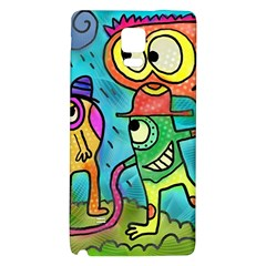 Painting Painted Ink Cartoon Galaxy Note 4 Back Case