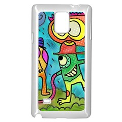 Painting Painted Ink Cartoon Samsung Galaxy Note 4 Case (white)
