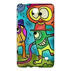Painting Painted Ink Cartoon Samsung Galaxy Tab 4 (7 ) Hardshell Case