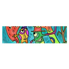 Painting Painted Ink Cartoon Satin Scarf (oblong)