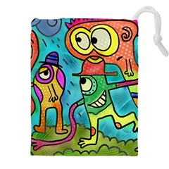 Painting Painted Ink Cartoon Drawstring Pouches (xxl)