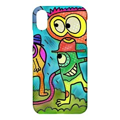 Painting Painted Ink Cartoon Apple Iphone X Hardshell Case