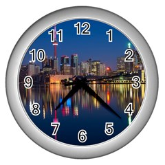 Buildings Can Cn Tower Canada Wall Clocks (silver)