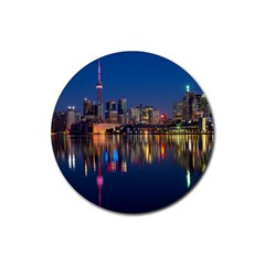 Buildings Can Cn Tower Canada Rubber Round Coaster (4 Pack)