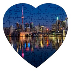 Buildings Can Cn Tower Canada Jigsaw Puzzle (heart)